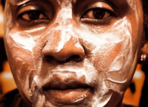 Skin bleaching creams are highly sought after in Kenya. www.naturallymoi.com