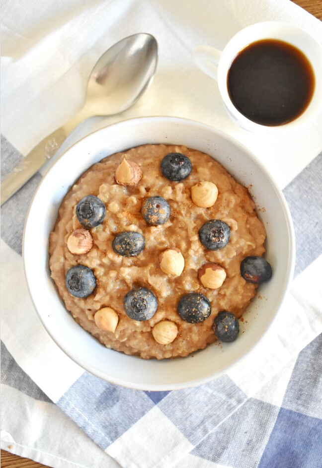 Cómo hacer porridge de avena y café