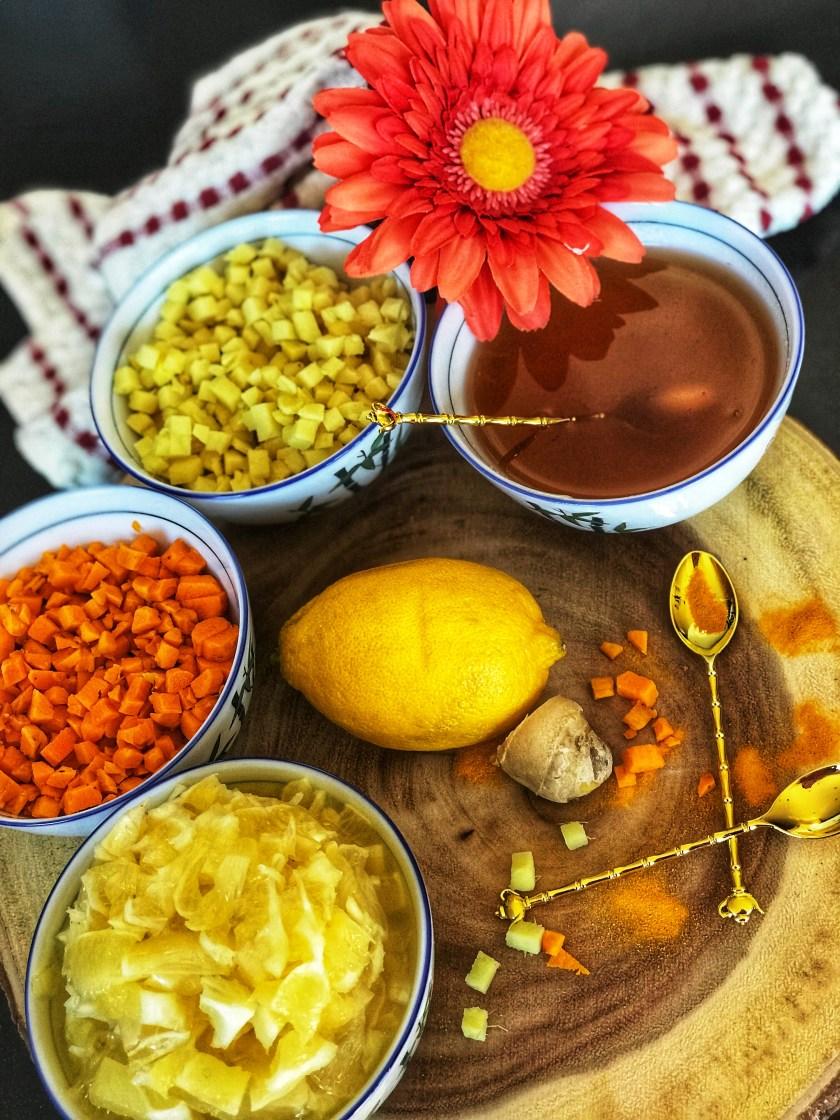 Turmeric Ginger Lemon Morning Tea
