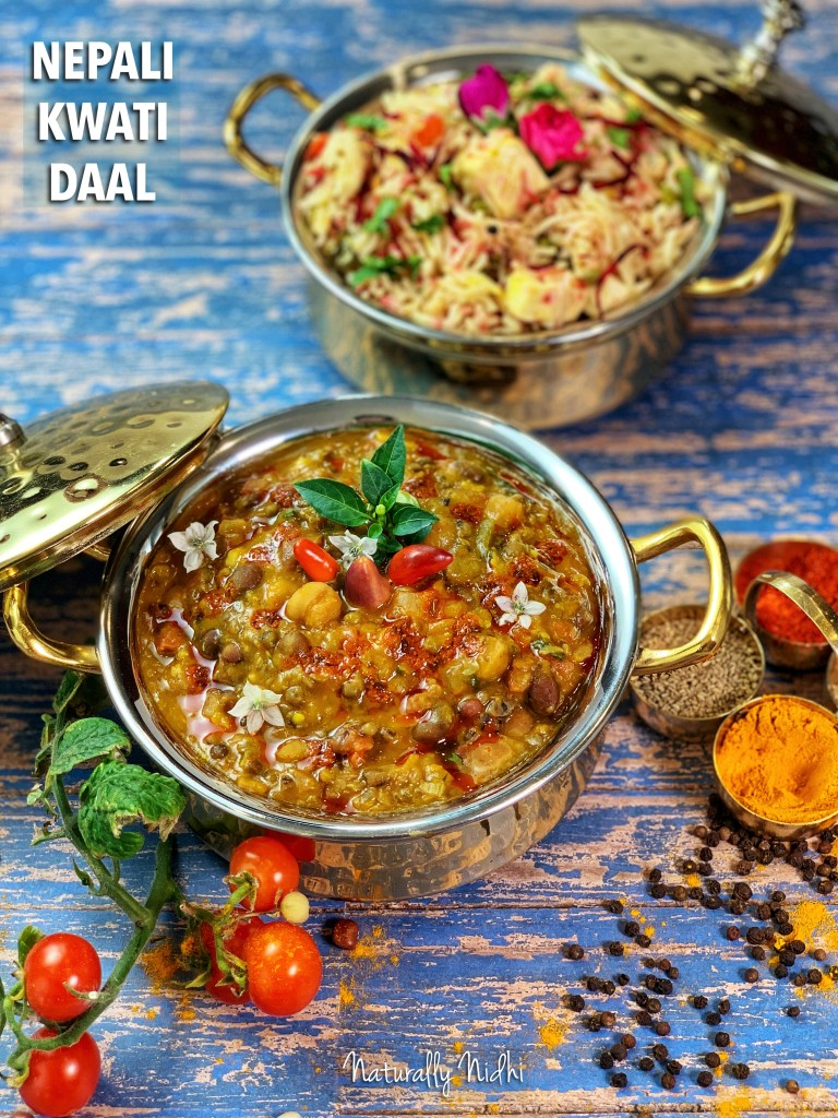 Nepali Kwati Daal (Mixed Lentil Stew) - Instant Pot or Stovetop, packed full of proteins from the legumes, making it perfect for vegetarians to get their daily dose of vitamins and minerals. It's creamy, toothy, and super aromatic for all of your heartwarming needs!