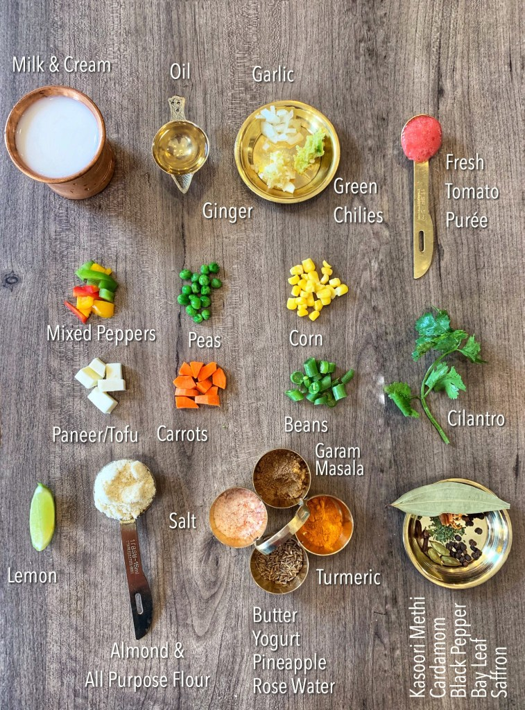 Rich, creamy, and decadent in every way, this Mixed Vegetables in White Gravy (Instant Pot or Stovetop) is the easiest way to elevate a simple weeknight dinner! Featuring a medley of vegetables paired with lovely aromatics like saffron and rose, it goes great with naan or rice for a simple, yet elegant meal!
