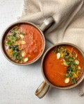 Tomato Basil Soup - Few dishes are as nostalgic and comforting as a simple tomato soup. With fresh basil, roasted garlic and infused with Parmesan, this flavorful take on a classic is nothing short of heavenly!