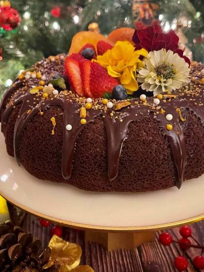 Eggless Orange Chocolate Ragi Cake - try a guilt-free version of an indulgent chocolate cake made with healthy, fiber-rich ragi (finger millets). Enjoy the deep, rich chocolatey flavor and bursts of refreshing citrus for a pop of sweetness in your life!