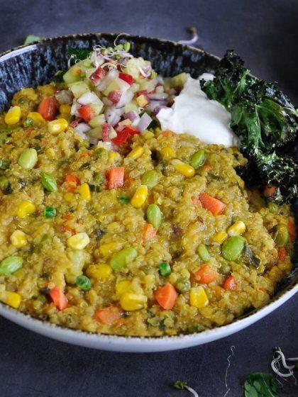 Instant Pot Vegan Quinoa Coconut Khichdi