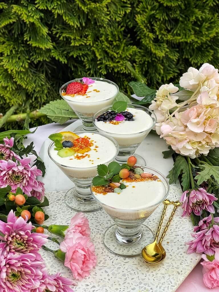 Sandesh Cheesecake Cups