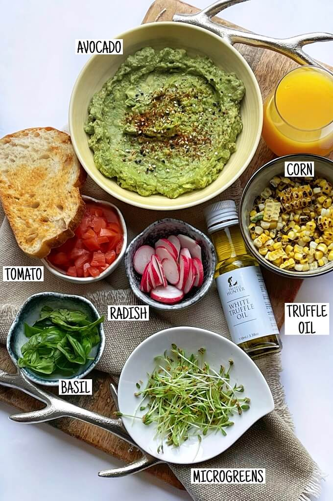Avocado Toast With Grilled Corn