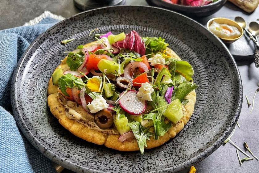 Fattoush Salad Pita Pizza