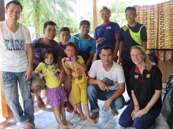 Rebecca with some of the many local people who helped! ©Rebecca Brown
