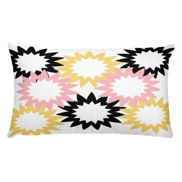Starburst Throw Pillow - Black, Mustard, Millennial Pink | Fly Mama Shop