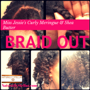 Miss Jessie's Curly Meringue & Shea Butter Braid Out