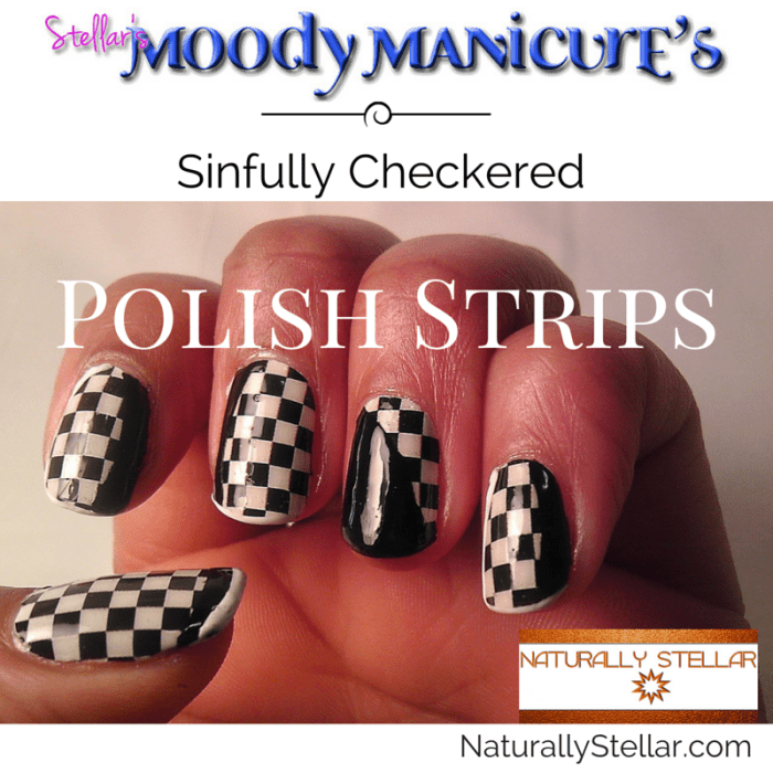Moody Manicures - Checkered Polish Strips