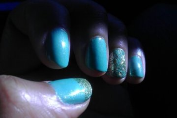 Mint Apple Jewels Nails