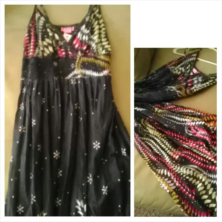 Dress, maxi, tribal,  Goodwill, Fashion, Fashionista, Thrift, Thrifty Thursday, naturally stellar, goodwill gorgeous