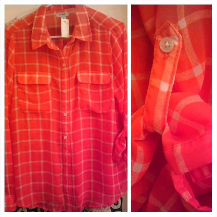 Thrifty Thursday, Fashion, Blouse, Old Navy, Red, Sheer, Goodwill, Naturally Stellar, Spring, Fashionista