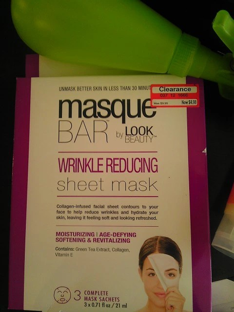 Look Beauty, Masque, Collagen, Wrinkle, Mask, Facial, Target, Beauty, Shopping, Naturally Stellar, Makeup, Cosmetics, Haul,