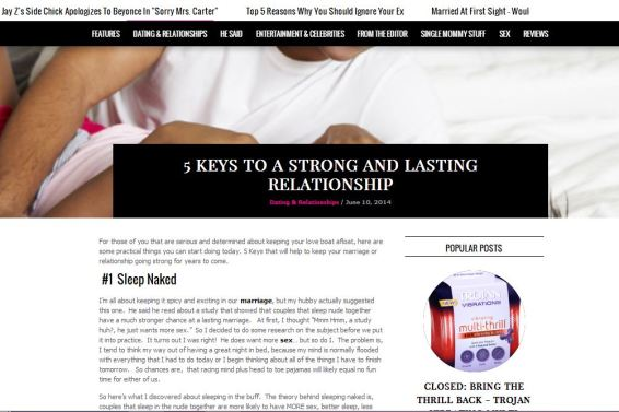 C. Straughter guest writer on The Sexy Single Mommy - 5 Keys To A Strong And Lasting Relationship