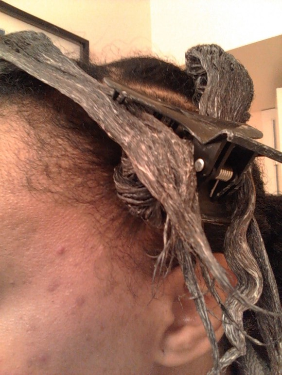 Mid Process. Feria Intense Ombre for Dark Natural Hair 030