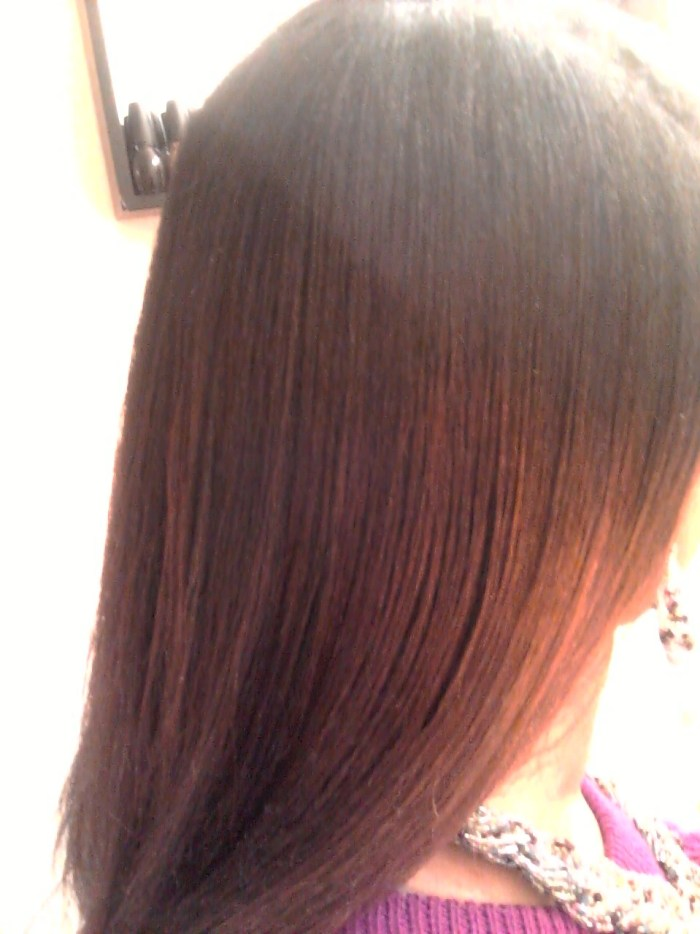 Results of DIY Ombre on Straightened Natural Hair | Naturally Stellar