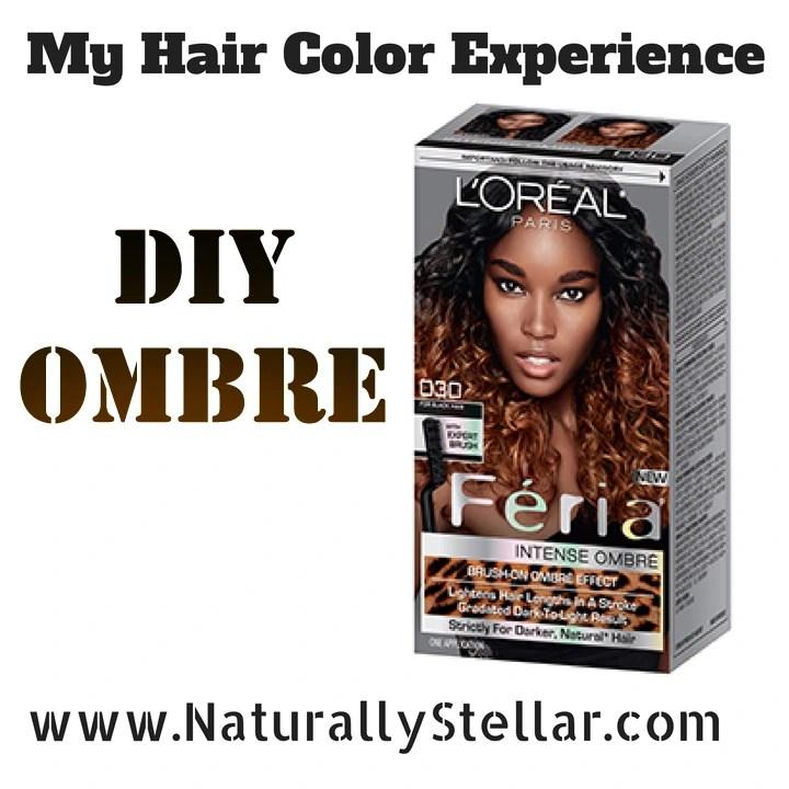 Natural hair my diy ombre hair color experience naturally stellar solutioingenieria Gallery