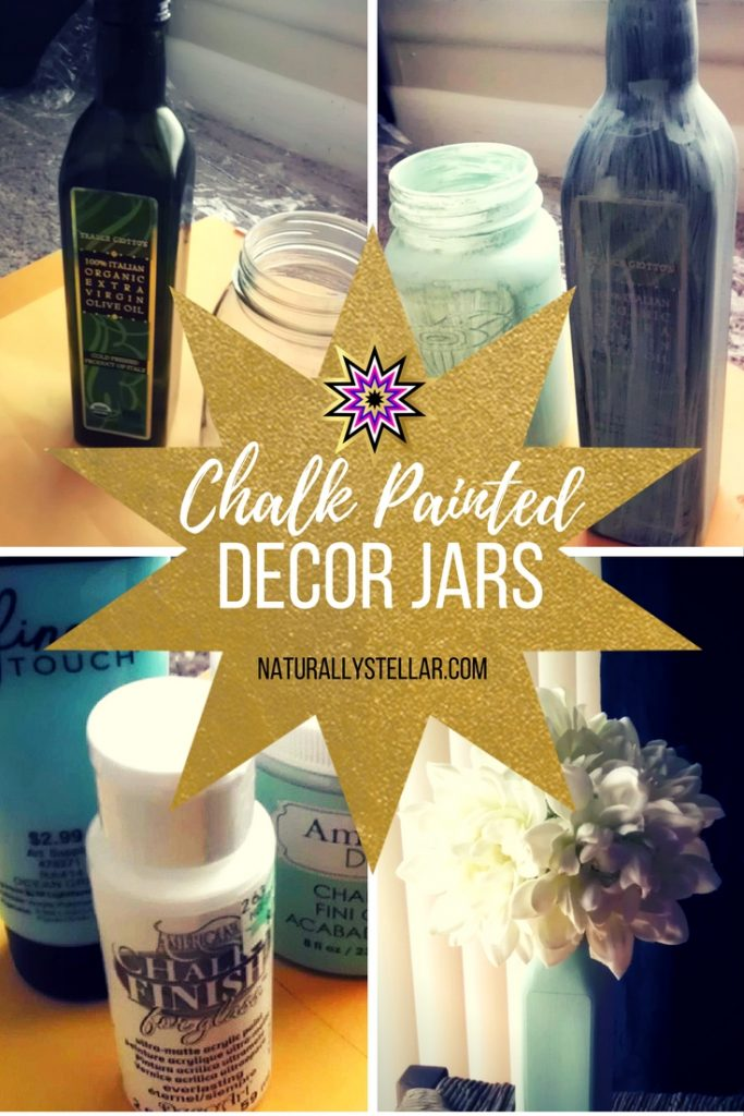 Chalk Painted Decor Jars | Naturally Stellar