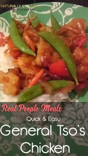 Real People Meals   Quick & Easy General Tso's Chicken