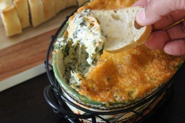 Hot and Cheesy Spinach Artichoke Crab Dip