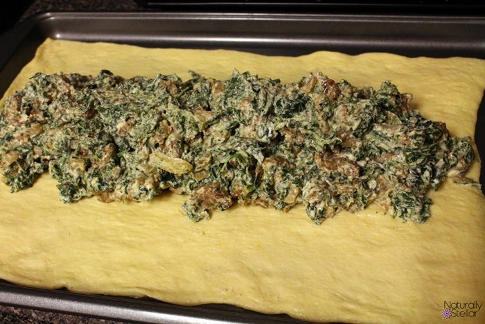 Cheesy Spinach Sausage Crescent Braid | Naturally Stellar
