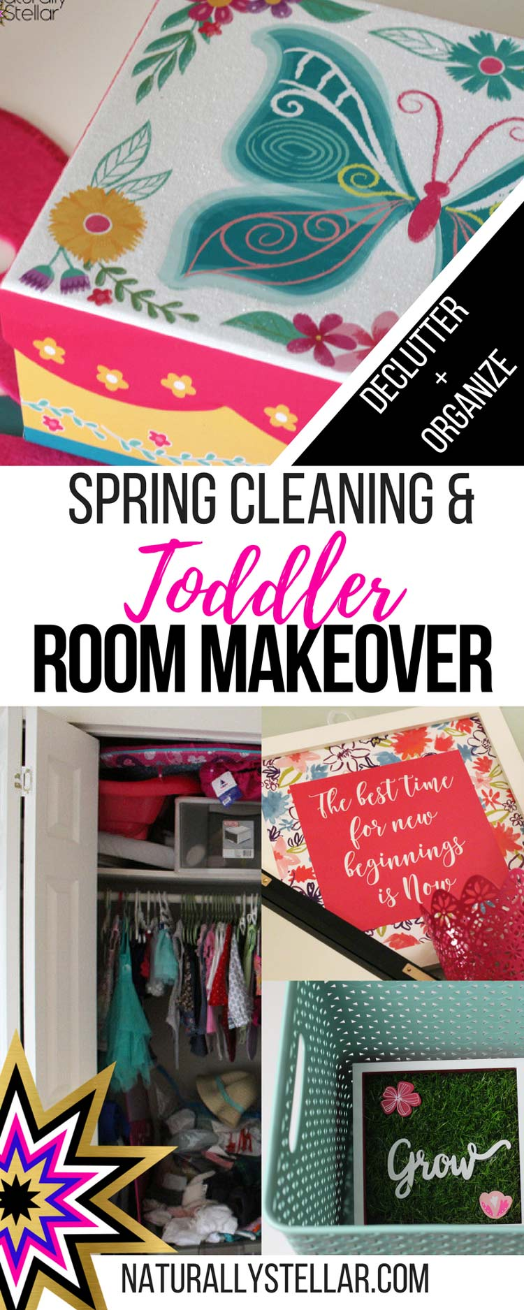 Toddler Room Makeover with Spring Cleaning | Naturally Stellar