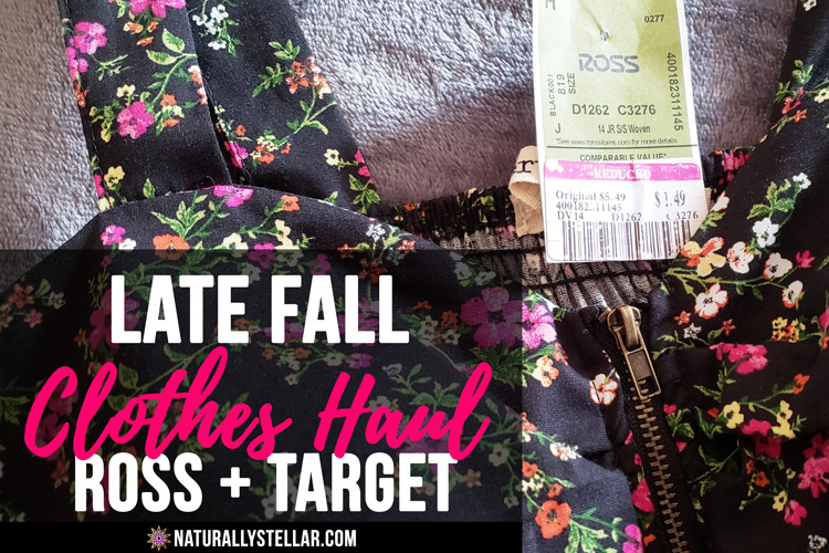 Fall Clothing Haul Ross + Target | Naturally Stellar