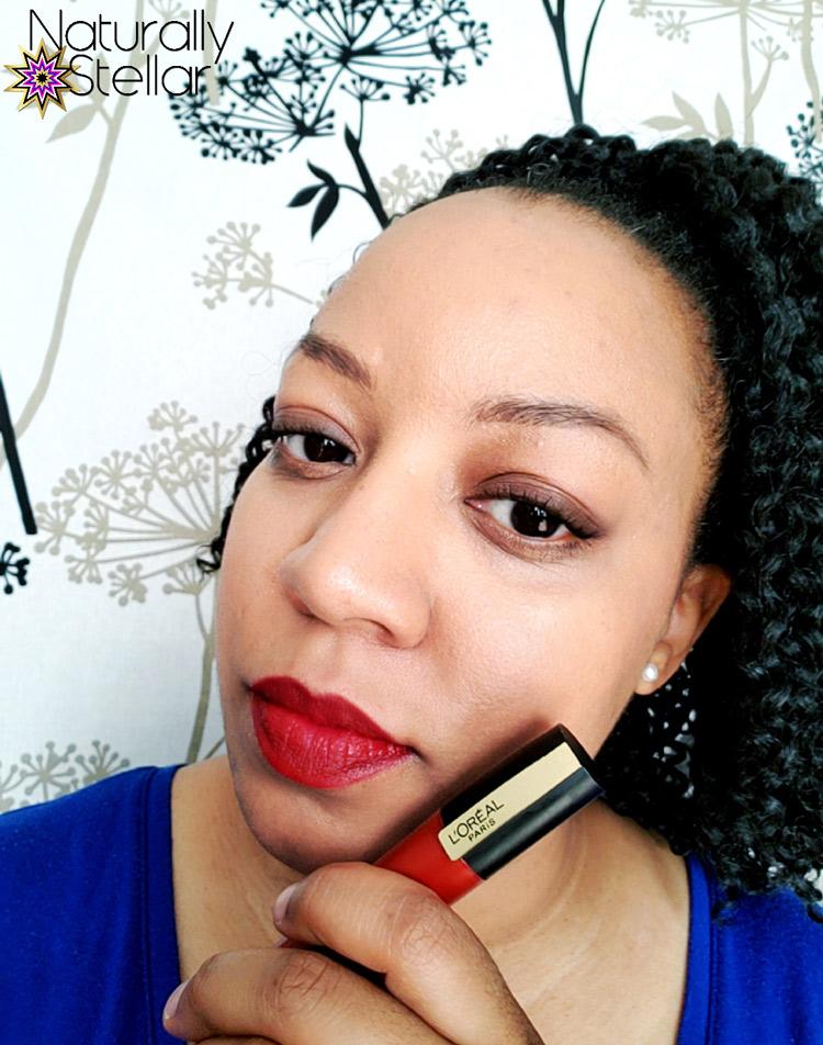 L'Oreal Paris Rouge Signature Liquid Matte Lipstick Review   Naturally Stellar