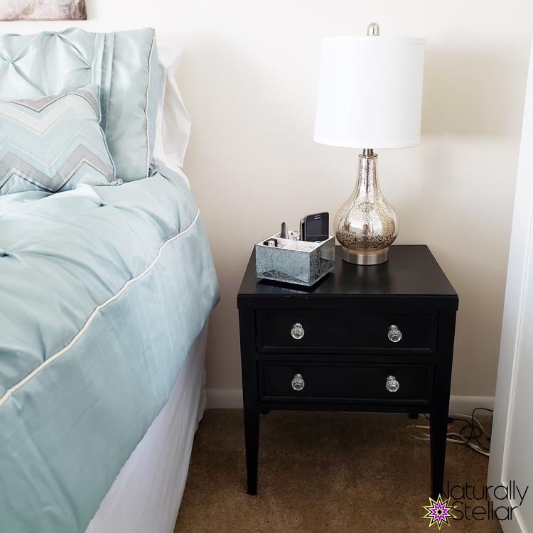 Summer Master Bedroom Makeover Mini Tour - Side Table | Naturally Stellar