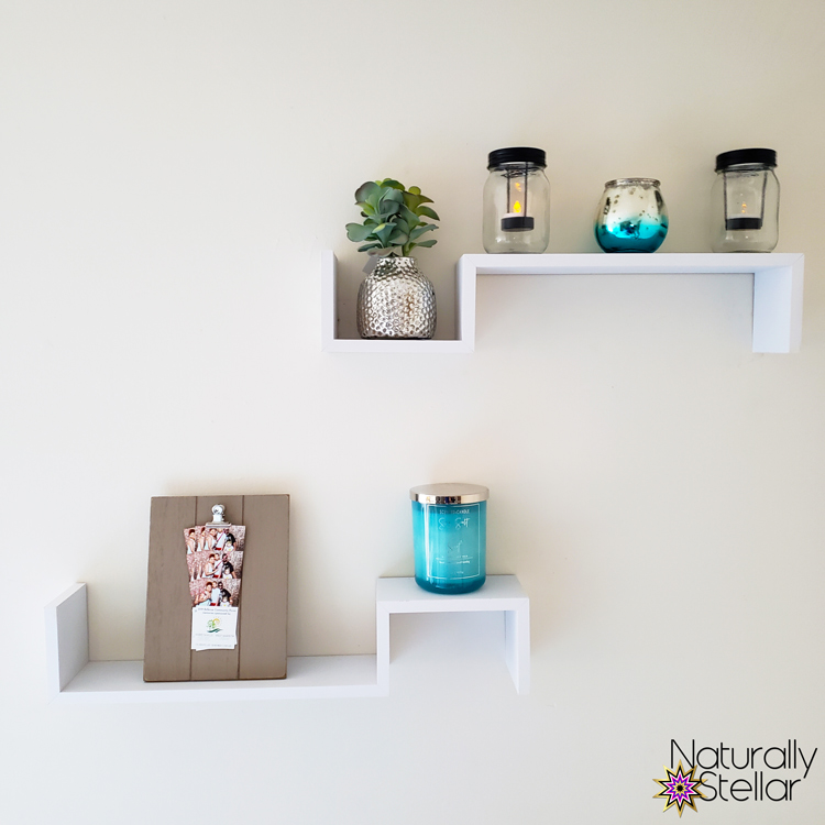Summer Master Bedroom Makeover Mini Tour - Wall Shelf Set | Naturally Stellar