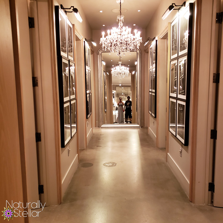 Date Night at Restoration Hardware - Mirrored Hallway | Naturally Stellar