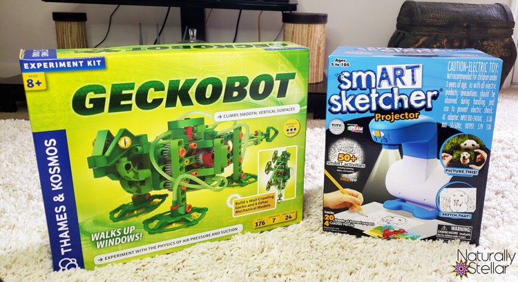 STEM and STEAM activities to keep kids busy. Geckobot and Smart Sketcher  Naturally Stellar
