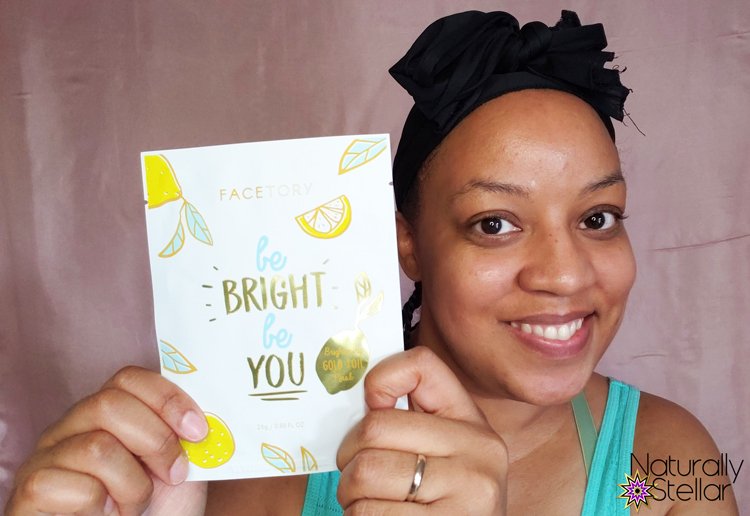 change your life | Naturally Stellar Facetory Be Bright Be You gold foil mask | Naturally Stellar