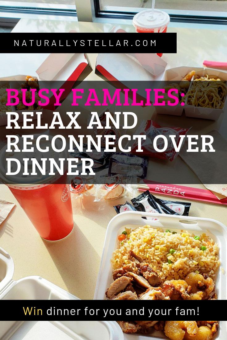 Weekend family dinner at Panda Express