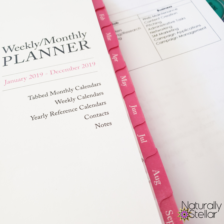 Blog planner page and priorities list   Naturally Stellar