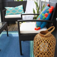This bare balcony was transformed into a gorgeous entertaining spot