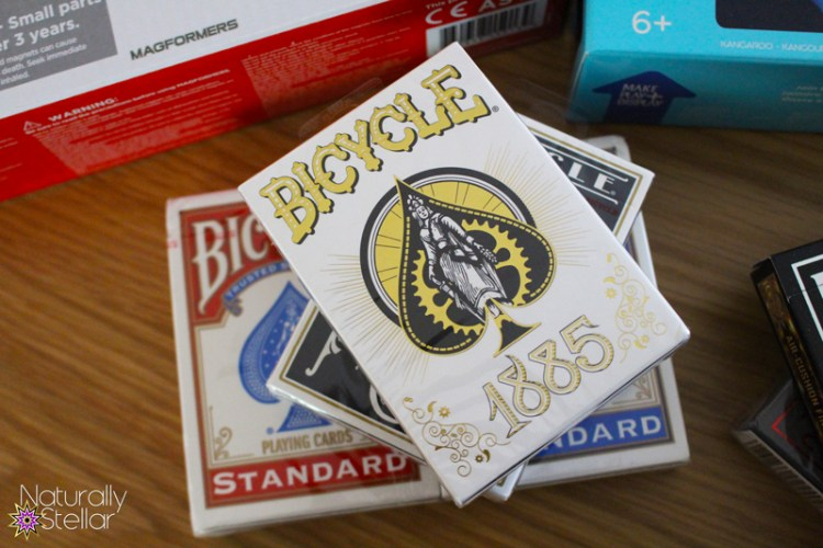 Summer STEAM should include Bicycle card decks. Naturally Stellar