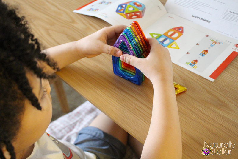 Magformers play sets are a great STEAM toy for preschool to school aged kids