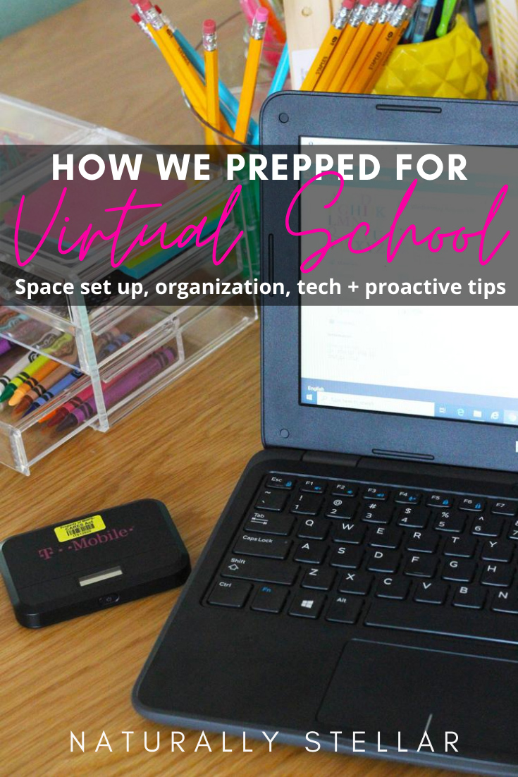 How we prepped for virtual school | Naturally Stellar
