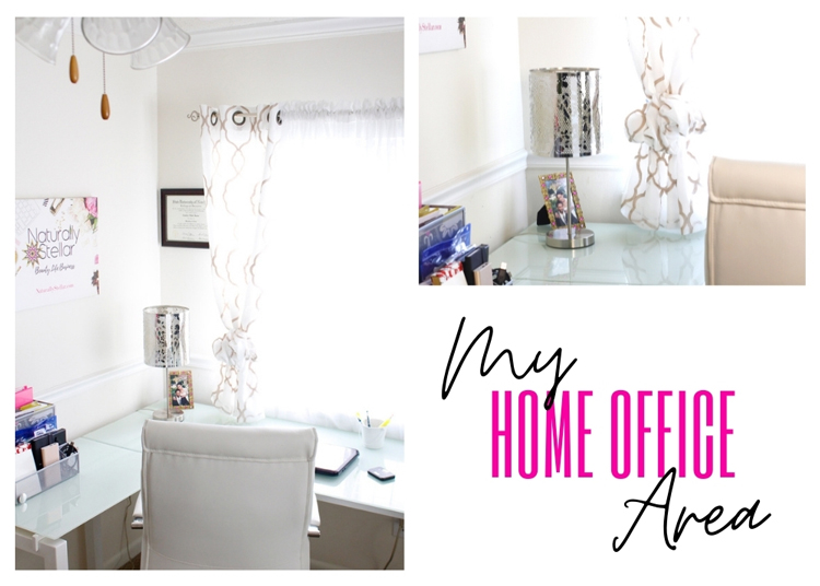 Small space home office setup | Naturally Stellar