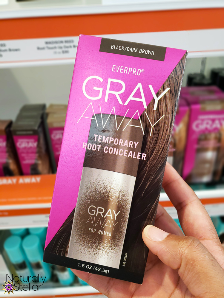 Gray Away Temporary Root Concealer Spray available at Ulta Beauty | Naturally Stellar
