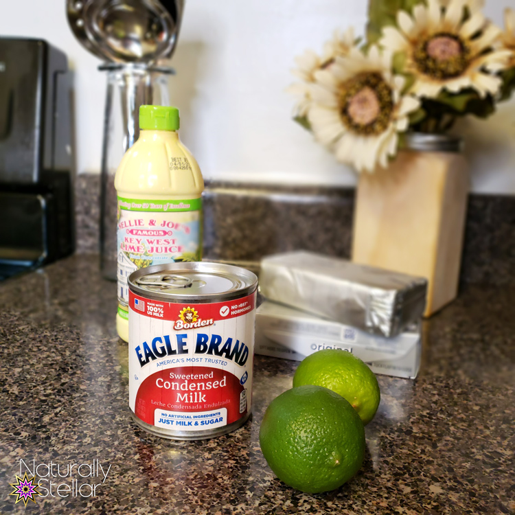 Only 3 or 4 ingredients to make my Key Lime Shortcakes filling for dessert | Naturally Stellar