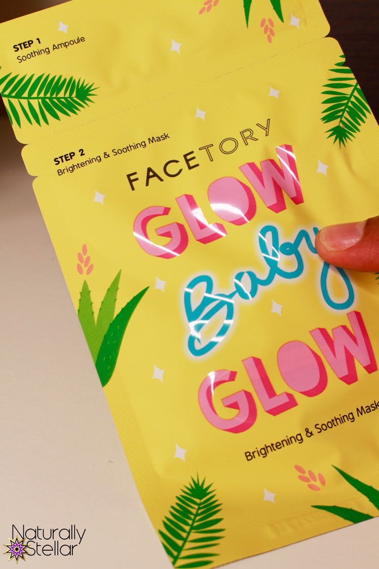 FaceTory Glow Baby Glow Sheet Masks | Naturally Stellar
