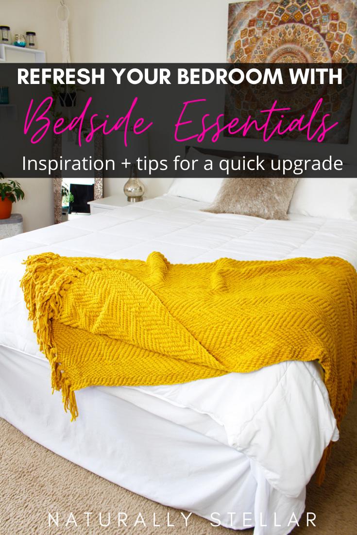 Bedroom Refresh With Wayfair Bedside Essentials | Naturally Stellar https://naturallystellar.com