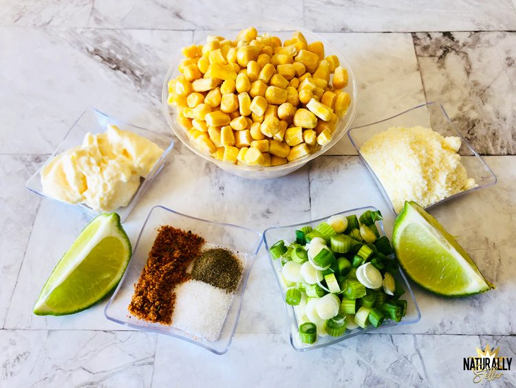 Super easy and delicious street corn bake as a side dish | Naturally Stellar