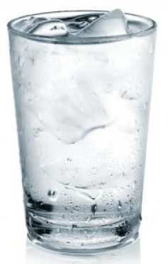 A large glass of water depicts why your brightest days start with water.