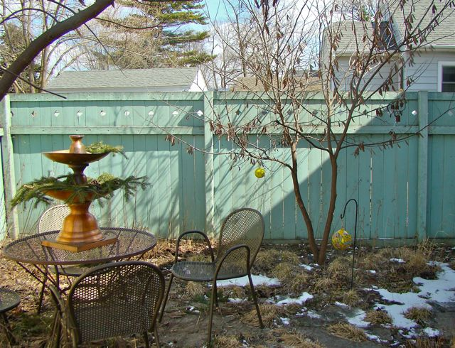 early spring patio
