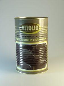 VITOLIO Чорні маслини з кісточкою ATLAS 71-90 4.65нет/2.5кг св, 51501